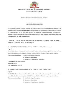 PREFEITURA MUNICIPAL DE PRESIDENTE