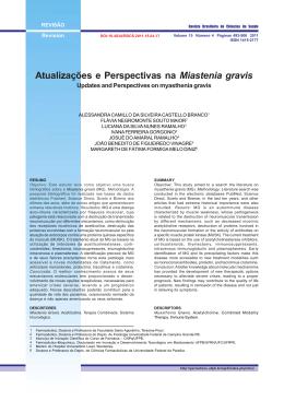 Atualizações e Perspectivas na Miastenia gravis - Jordan 11 72-10