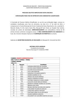 município de macapá – prefeitura municipal secretaria municipal de