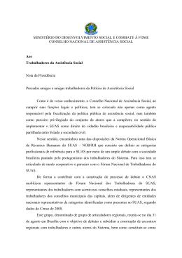 MINISTÉRIO DO DESENVOLVIMENTO SOCIAL E