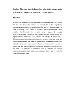 Modelo Blended Mobile learning. RESUMO