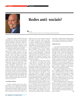 Redes anti-sociais? - Information Builders
