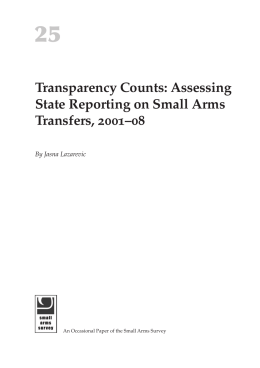 Transparency Counts: Assessing State Reporting on Small Arms