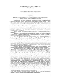 HISTÓRIA DA LITERATURA BRASILEIRA Sílvio