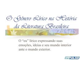 O Gênero Lírico na História da Literatura Brasileira