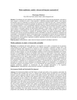 Meio ambiente, saúde e desenvolvimento sustentável Henrique