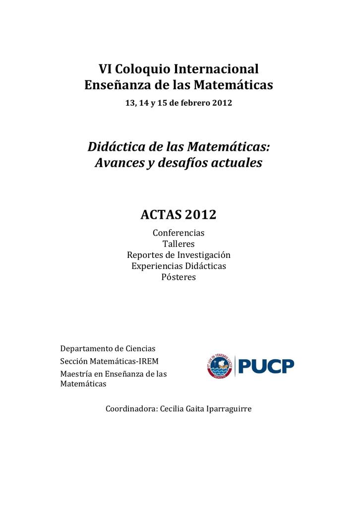 Actas 2012