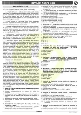 Página 1 MATUTINO PORTUGUÊS – A e B