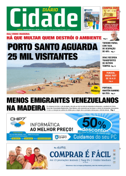 PORTO SANTO AGUARDA 25 MIL VISITANTES