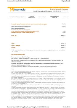 Página 1 de 2 Montepio Simulador Crédito Habitação 05/04/2014