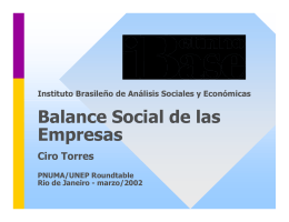 Balance Social de las Empresas
