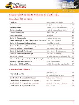 Estrutura da Sociedade Brasileira de Cardiologia