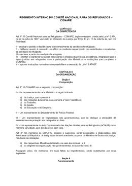 regimento interno do comitê nacional para os refugiados