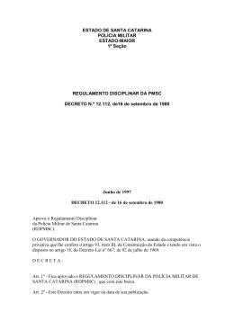 Regulamento Disciplinar da PMSC