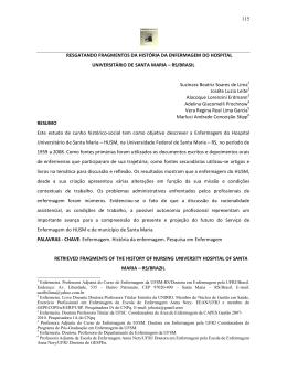 RS/Brasil. - História de Enfermagem: Revista Eletrônica – HERE