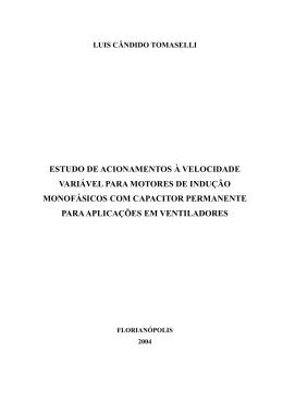 estudo de acionamentos à velocidade variável para