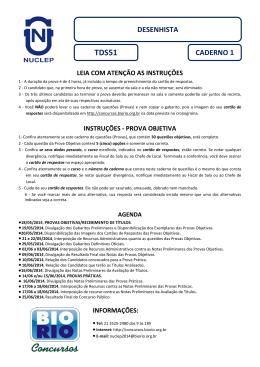 Prova - Concursos BioRio