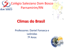 Climas do Brasil - Salesiano Dom Bosco