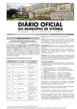 Diário Oficial - MINHA VITÓRIA