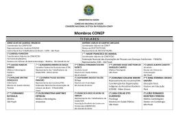 Composição da Conep - Conselho Nacional de Saúde