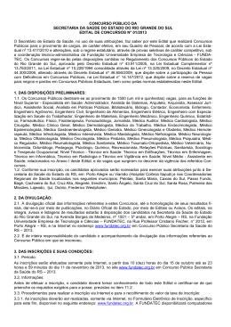 edital - Secretaria Estadual da Saúde do Rio Grande do Sul