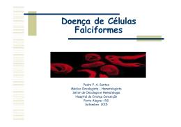 Doença falciforme 2015 - Grupo Hospitalar Conceição