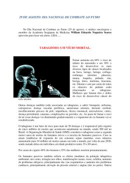dia nacional de combate ao fumo tabagismo: um vício mortal.