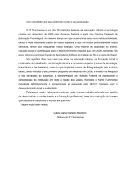 EDITAL DO VESTIBULAR - CAMPUS CABO FRIO 2o SEMES