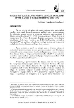 Formato para publicação de Artigo