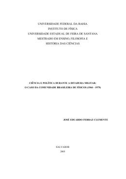 O Caso da Comunidade Brasileira de Físicos (1964-1979
