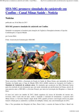 SES-MG promove simulado de catástrofe em Confins