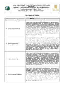 Atribuições dos cargos - Médicos - Reis & Reis