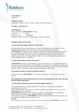 CAPILAREMA® aminaftona APRESENTAÇÕES Comprimidos