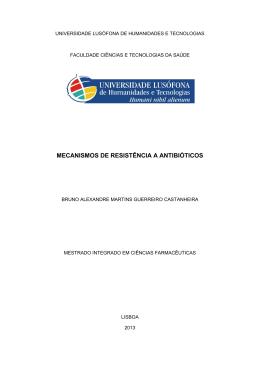 Monografia Mecanismos de Resistência a Antibióticos