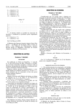 Portaria n.º 350/2001, de 9 de Abril