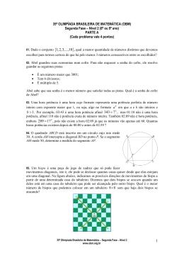 XXXIII OLIMPÍADA BRASILEIRA DE MATEMÁTICA