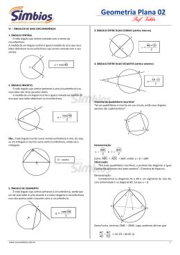 Geometria Plana 02 - Colégio e Curso Simbios