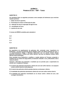 QUÍMICA PRIMEIRA ETAPA - 1997