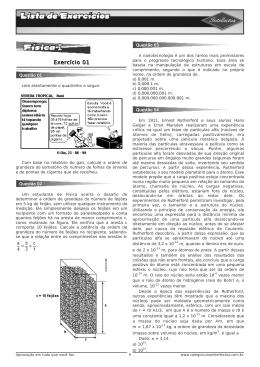 Lista de exercícios 3ºAno_Apostila 01 - Física I - Módulo