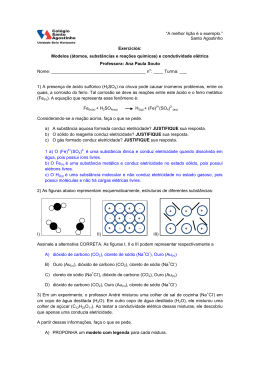 1) A presença de ácido sulfúrico (H2+SO42-) na chuva