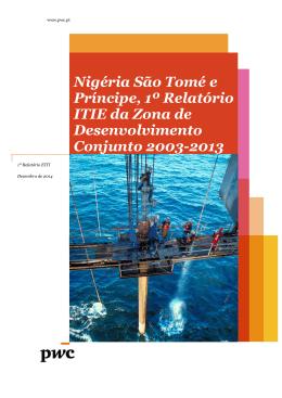 Nigéria São Tomé e Príncipe, 1º Relatório ITIE da Zona de