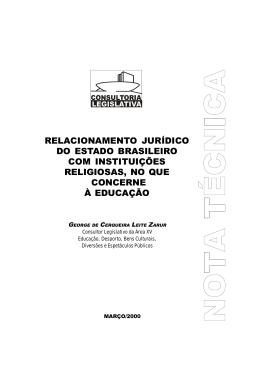 relacionamento jurídico do estado brasileiro com instituições