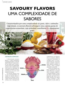 SAVOURY FLAVORS UMA COMPLEXIDADE DE SABORES