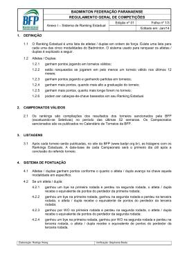 Anexo I - Sistema de Ranking Estadual