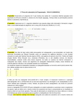1a Prova de Laboratório de Programação – 2014