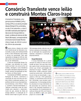 Consórcio Transleste vence leilão e construirá Montes Claros