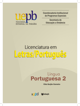 Governo Federal Luiz Inácio Lula da Silva Presidente - UEPB