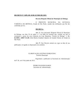 decreto n° 3895, de 18 de junho de 2015