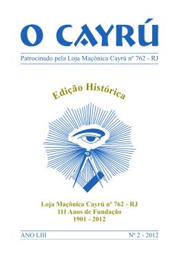 Boletim nº 2 - Setembro/2012 - Loja Maçônica Cayrú