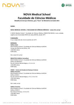 bilhete identidade - Faculdade de Ciências Médicas da